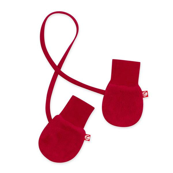 Zutano Cozie Fleece Mittens Cranberry