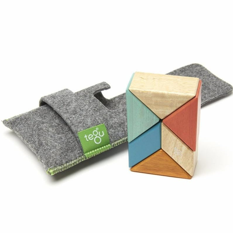 Tegu Magnetic Blocks Pocket Pouch Prism Sunset