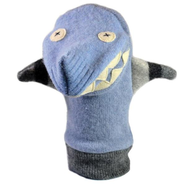 Cate and Levi Wool Puppet - Shark