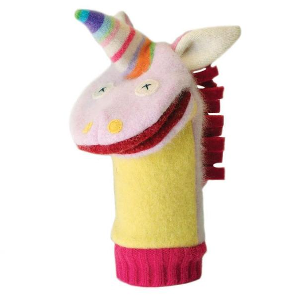 Cate and Levi Unicorn Wool Puppet