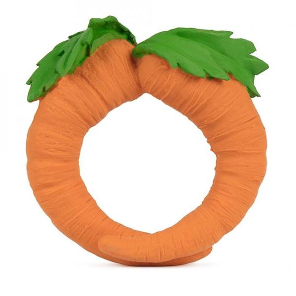 Cathy the Carrot Natural Rubber Teether
