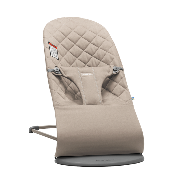 BabyBjorn Bouncer Bliss - Sand Grey Cotton
