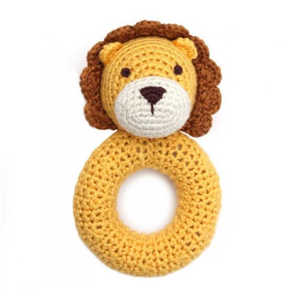 Cheengoo Ring Rattle Lion