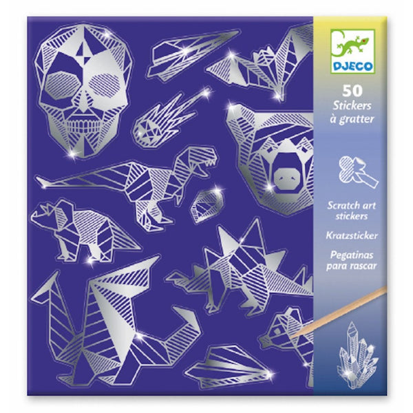 Djeco Scratch Art Stickers- Iron