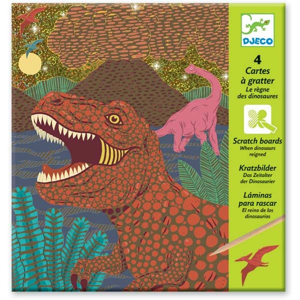 Djeco Scratch Boards - Dinosaur