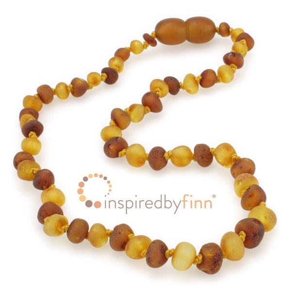 Inspired by Finn Baltic Amber Necklace Unpolished Mixture