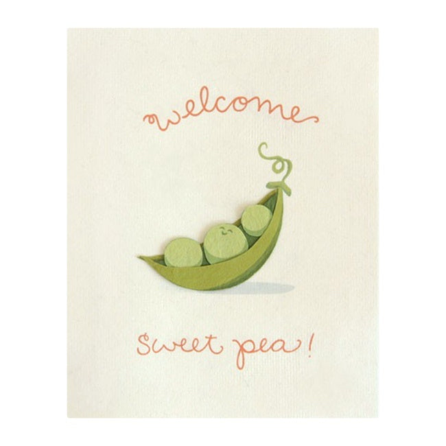 Good Paper Welcome Sweet Pea