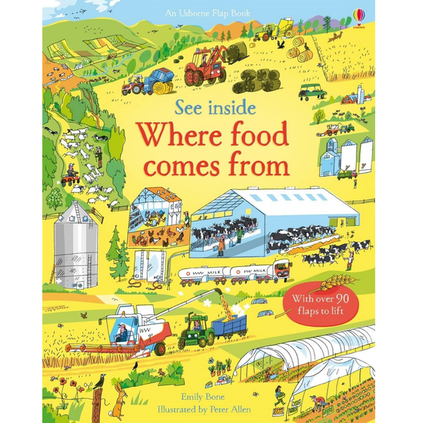 Usborne See Inside Where Food Comes From Flap Book
