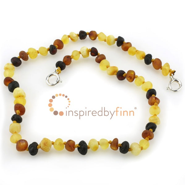 Inspired by Finn Baltic Amber  Anklet Unpolished Diversity