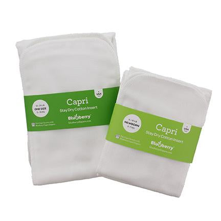 Blueberry Capri Stay Dry Organic Inserts, Newborn - 2 pack