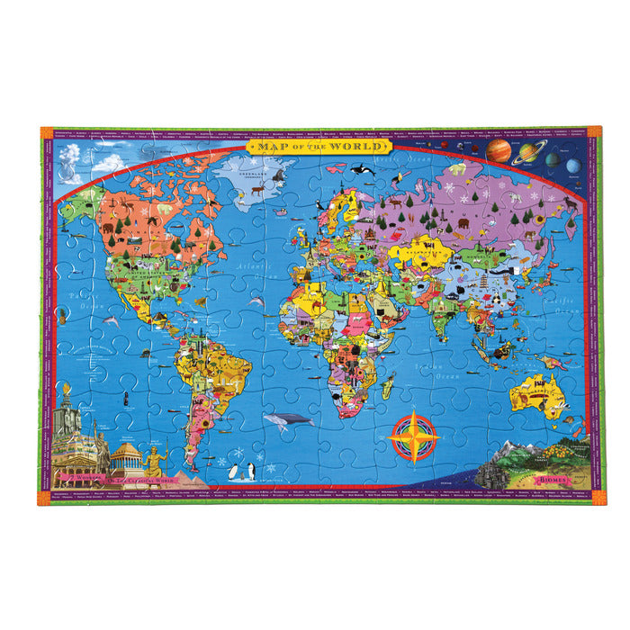Eeboo 100 Piece Puzzles World Map