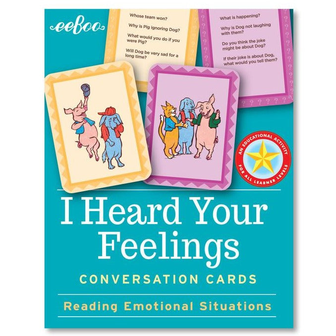 Eeboo Conversation Cards I heard your Feelings