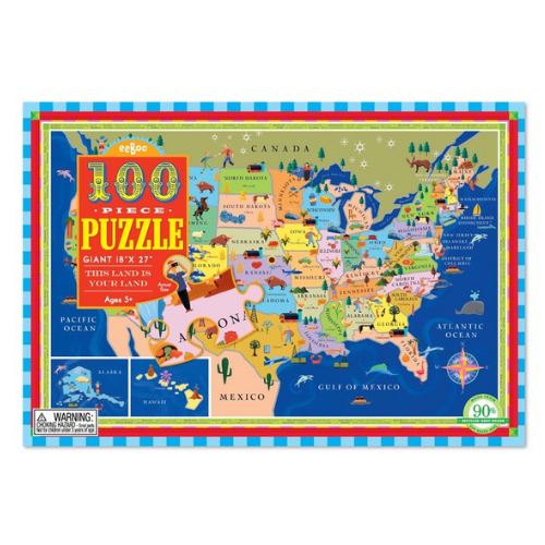 Eeboo 100 Piece Puzzle This Land is Your Land