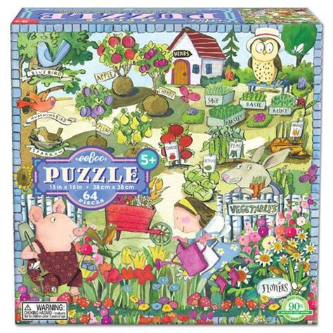 Eeboo 64 Piece Puzzle Growing a Garden