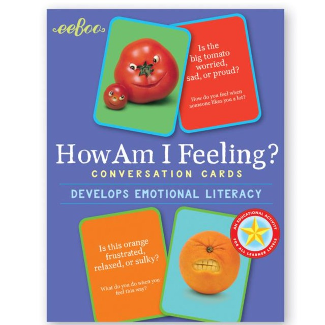 Eeboo Conversation Cards How Am I Feeling?