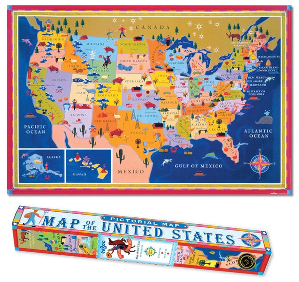 Eeboo Map USA