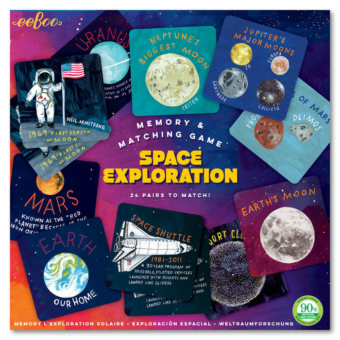 Eeboo Memory and Matching Game Space Exploration