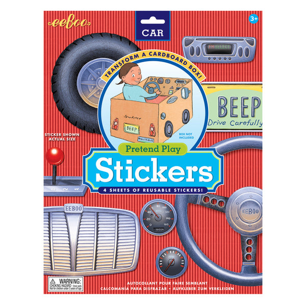 Eeboo Pretend Play Stickers- Car
