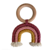 Chewable Charm Macrame Rainbow Teether- Berry + Mustard