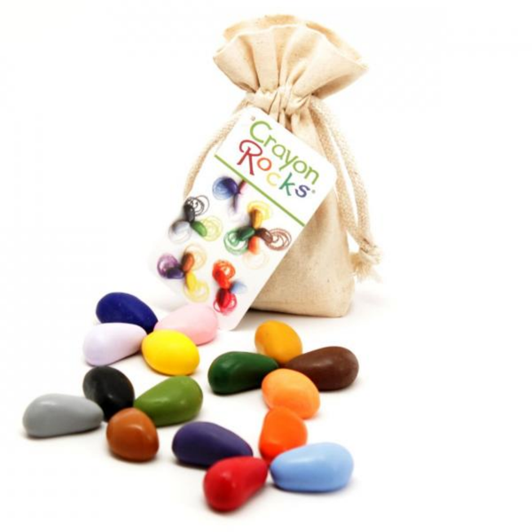 Crayon Rocks - 16 Colors in Muslin Bag