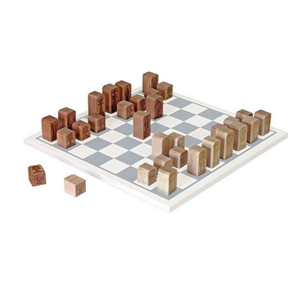 Maple Landmark Chess Pieces