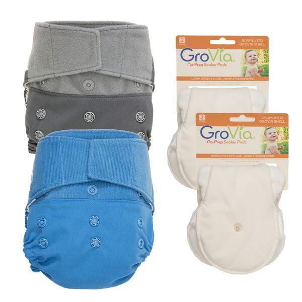 GroVia Package Deals! 2 Shells & 4 Soaker Pads