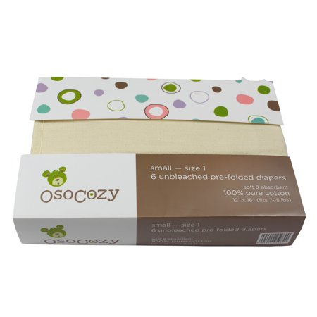 Osocozy Organic Prefold Diapers (6 Pack)