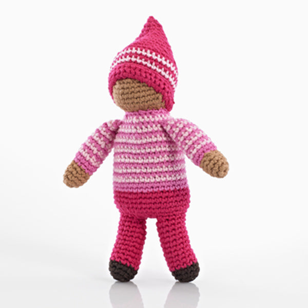 Pebble Pixie Rattles Rose