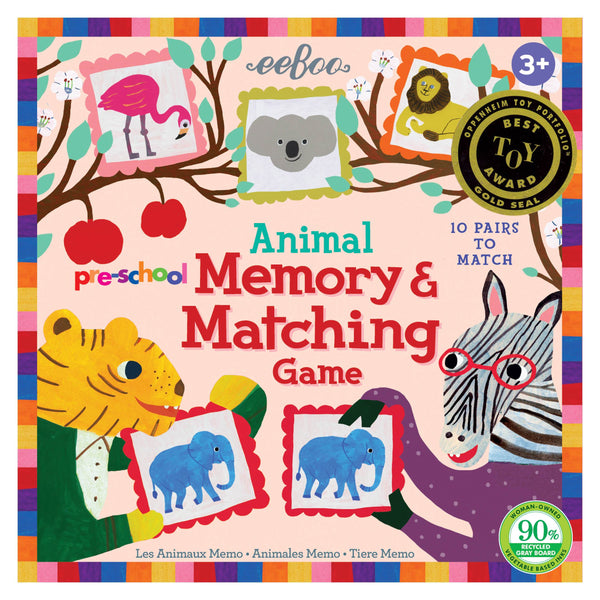 Eeboo Preschool Memory and Matching Game Animal