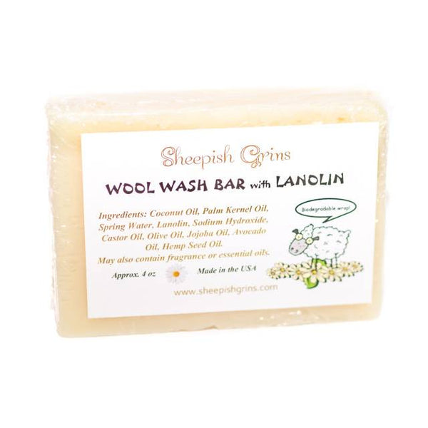 Sheepish Grins Wool Wash Bar with Lanolin