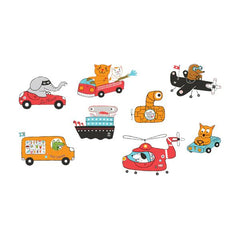 Tattly temporary tattoos Animal Driver Set