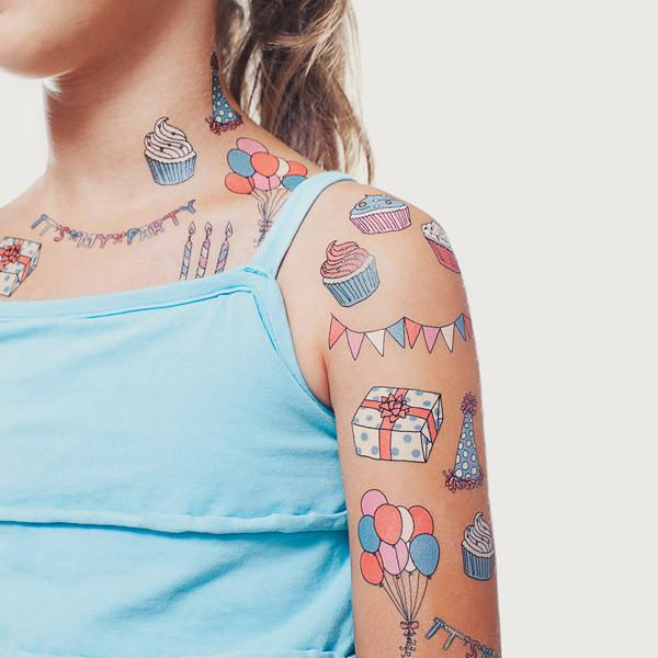 Tattly temporary tattoos Party Set