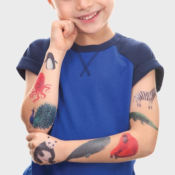 Tattly temporary tattoos Wildlife Set
