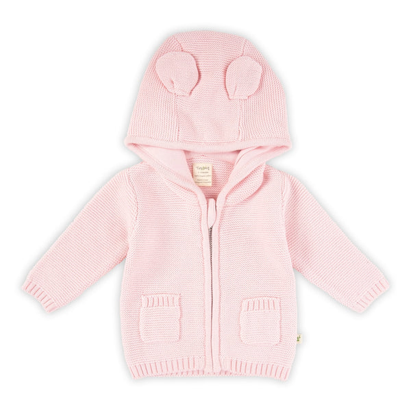 Tiny Twig Knitted Hoodie Soft Pink
