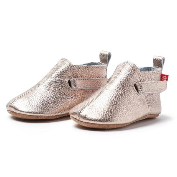 Zutano Rose Gold Leather Baby shoe