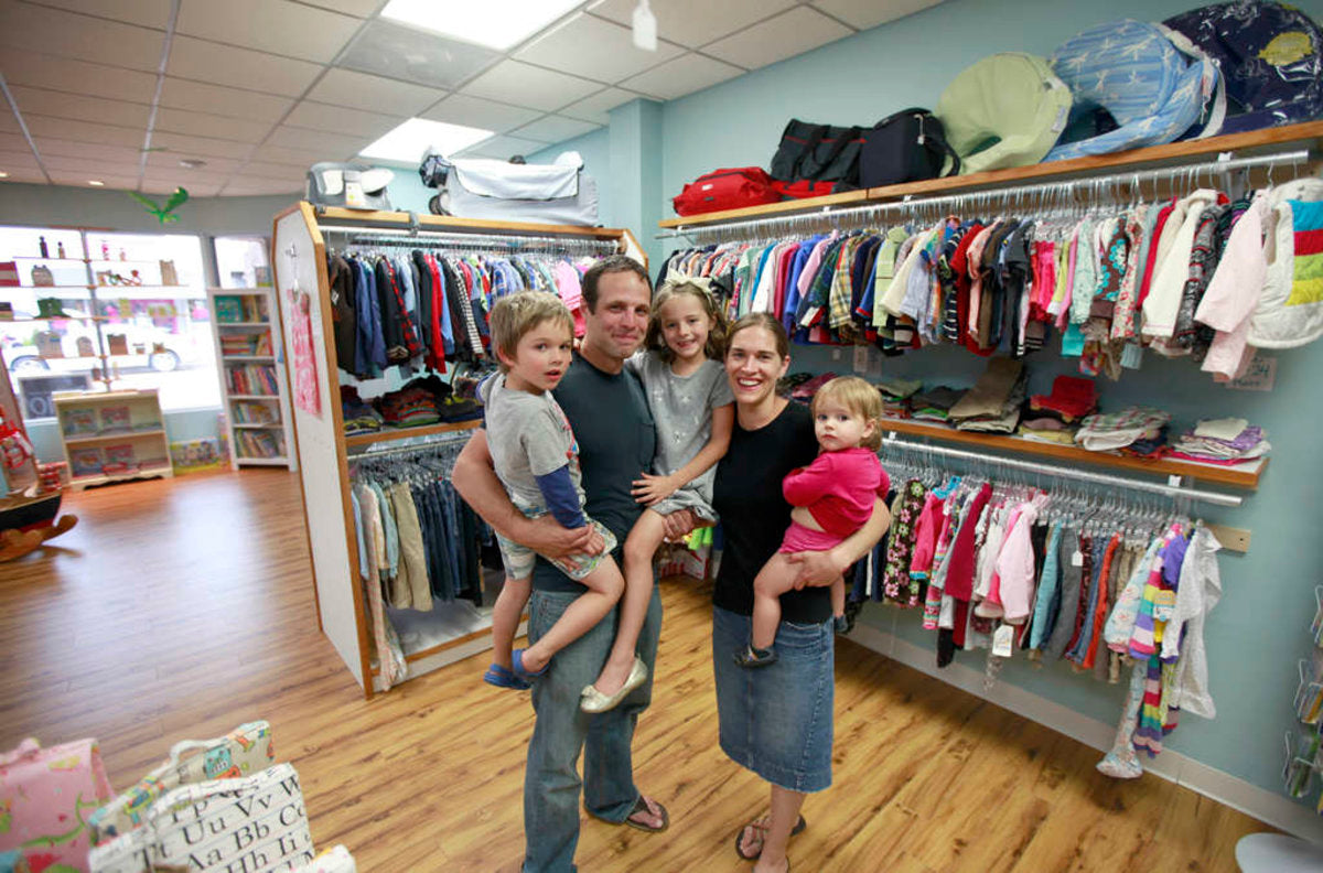 Christopher and Jennifer Kinka, owners of the Nesting House in Mount Airy, opened a Collingswood branch July 26. Customers turn in children's clothing for cash or store credit on gently used children's clothing or other items.