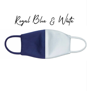 Mask: #RoyalBlue-White