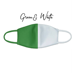 Mask: #Green-White Duo