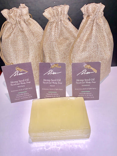 Hemp Seed Oil Facial and Body Soap: Natural - shoosmack