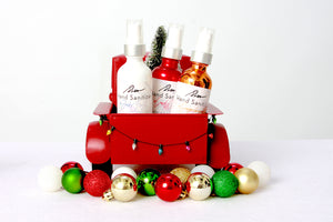 Hand Sanitizer: #HappyHolidays Collection with Mask