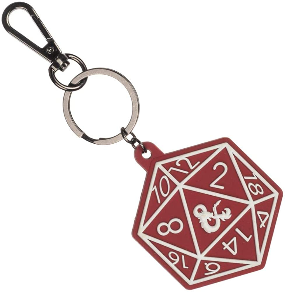 Dungeons and Dragons D20 Keychain
