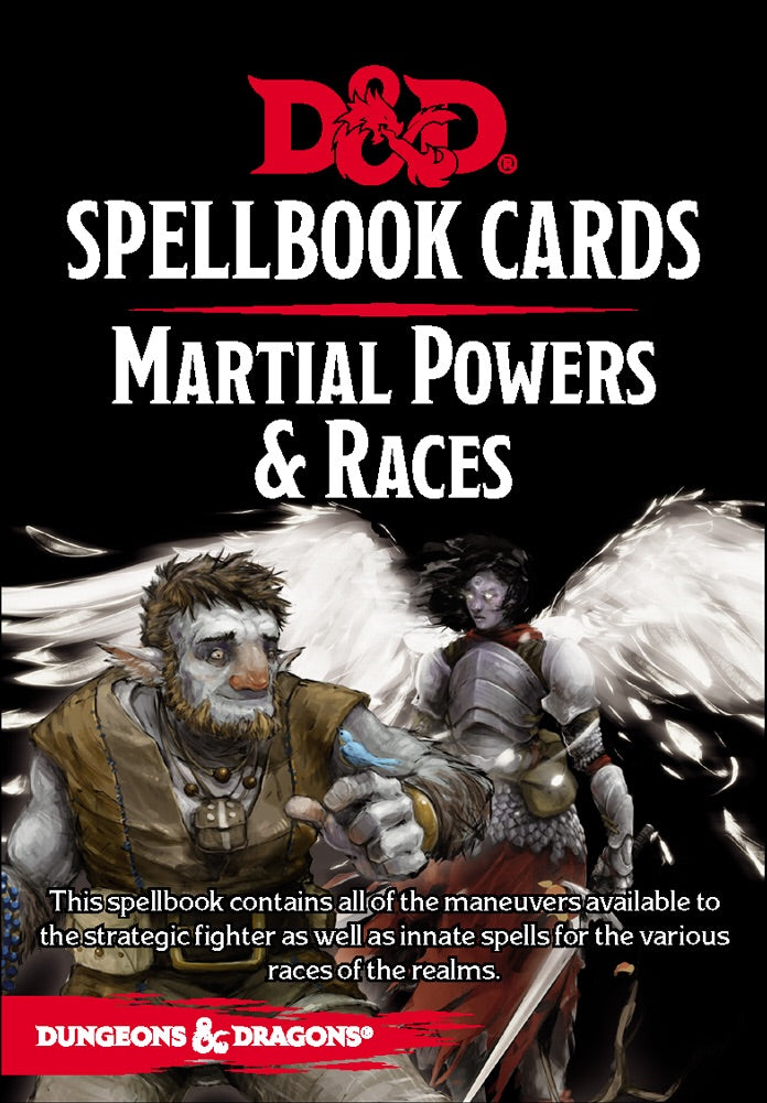 D&D 5th Edition Spellbook Cards Martial Powers and Races