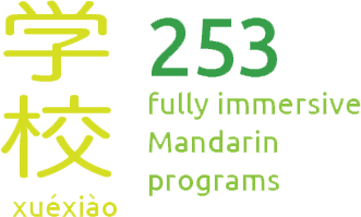 There are 253 fully immersive Mandarin programs in the USA