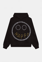 Load image into Gallery viewer, HAPPY FACED HOODIE GENDERLESS / HANDCRAFTED BY HUMAN