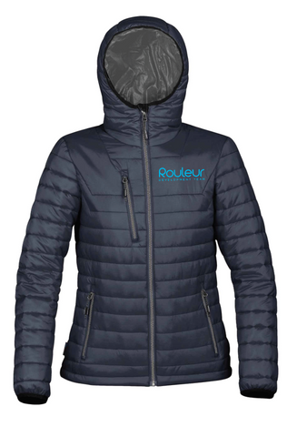 ROULEUR PUFF JACKET - BLACK/BLUE