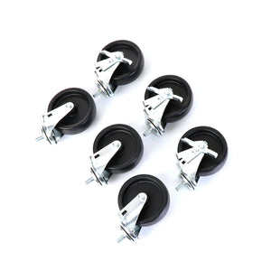 "Castors, Set of 6, 5"" Wheel Diameter"