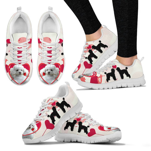 Valentine's Day Special Poodle Dog Print Running Shoes For Women- Free Shipping