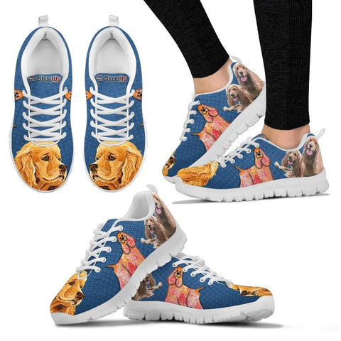 Lovely American Cocker Spaniel Print Running Shoes For Women- Free Shipping