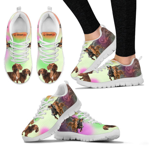 Dachshund Blur Print Running Shoes For Women-Free Shipping