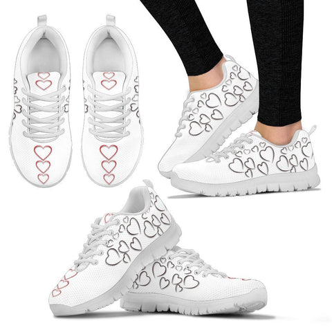 Valentine's Day Special Heart Print Running Shoes For Women- Free Shipping
